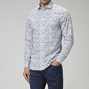 Blommig skjorta Astor Regular Fit | Brothers.se