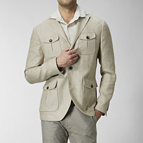 Beige jacka | Kavaj | The Tailoring Club | Brothers.se