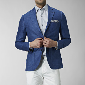Blazer Sutton Hemp - Blå | The Tailoring Club | Brothers.se
