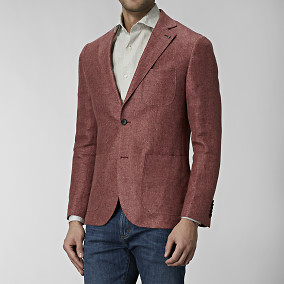 Blazer sutton hemp - röd | The Tailoring Club | Brothers.se