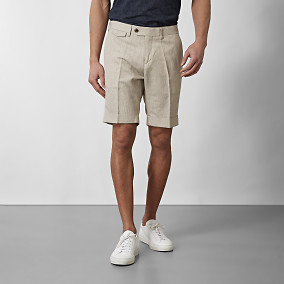 Shorts Shelby Linen Beige | Riley | Brothers.se