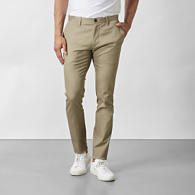 Byxa Stanton Twill Stretch Beige | Riley | Brothers.se
