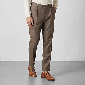 Shelby Pleated Ullbyxor Brun | Riley | Brothers.se