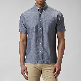 Skjorta Percival Chambray Indigo | East West | Brothers.se