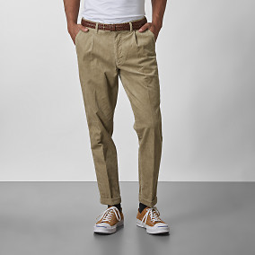 Baxter Cropped Manchesterbyxor Beige | East West | Brothers.se