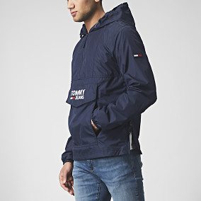 Jacka Pop Over Anorak Blå | Tommy Hilfiger | Brothers.se