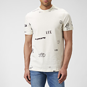T-shirt Graphic Vit | Lee | Brothers.se