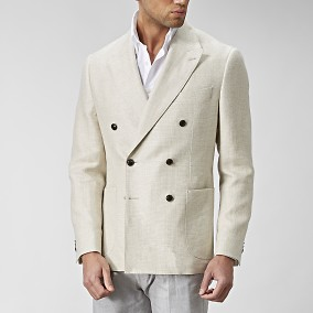 Sutton Dubbelknäppt Kavaj Beige | The Tailoring Club | Brothers.se