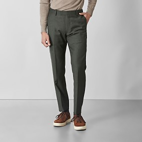 Shelby Wool Twill Kostymbyxor Grön | Riley | Brothers.se