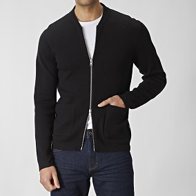 Tate Cardigan Svart | East West | Brothers.se