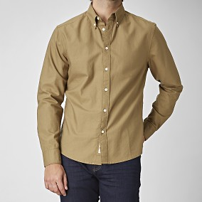 Spike Beige Oxfordskjorta | East West | Brothers.se