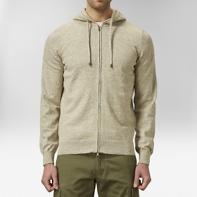 Hawk Hoodie Beige | The Tailoring Club | Brothers.se