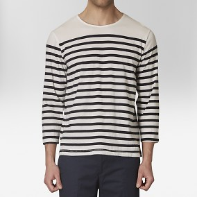 Haddok T-shirt Randig Svart | The Tailoring Club | Brothers.se