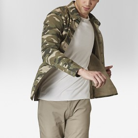 Asher Skjortjacka Camo | The Tailoring Club | Brothers.se