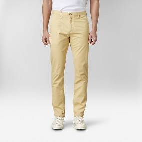 Bowery Stretch Chinos Gul | East West | Brothers.se