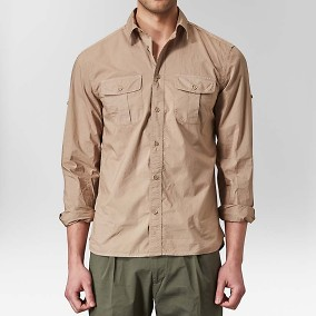 Fuel Poplinskjorta Beige | The Tailoring Club | Brothers.se