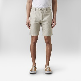 Benson Linneshorts Beige | East West | Brothers.se