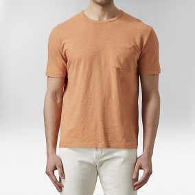 Konstantin Slub T-shirt Orange | East West | Brothers.se