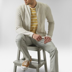 Keaton Cardigan Beige | East West | Brothers.se