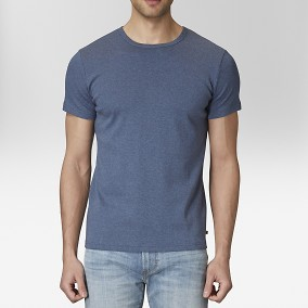 T-shirt O-neck Blå | East West | Brothers.se
