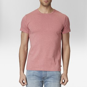 T-shirt O-neck Röd | East West | Brothers.se