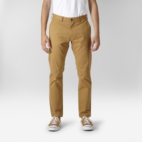 Baxter Stretch Chinos Gul | East West | Brothers.se
