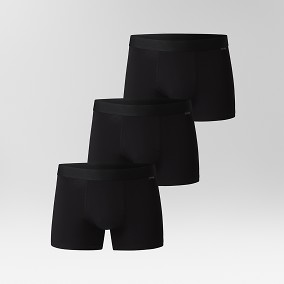 Solid Kalsonger 3-Pack Trunks Svart | Riley | Brothers.se