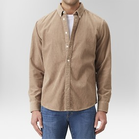 Edgar Manchesterskjorta Beige | East West | Brothers.se