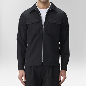 Blix Skjortjacka Zip Svart | The Tailoring Club | Brothers.se