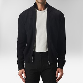 Compton Cardigan Svart | The Tailoring Club | Brothers.se