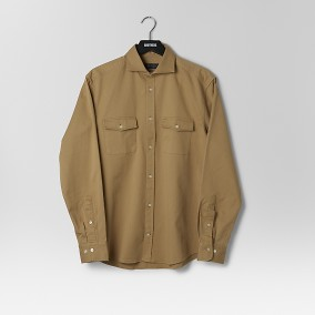Harstena Skjorta Twill Beige | Riley | Brothers.se