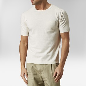 Enholmen Stickad T-shirt Beige | Riley | Brothers.se