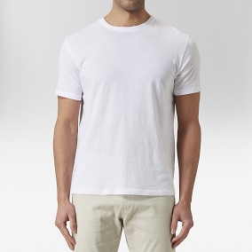 Max O-neck T-shirt Vit | East West | Brothers.se