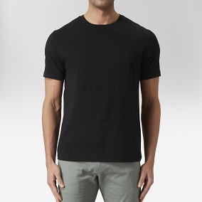 Max O-neck T-shirt Svart | East West | Brothers.se
