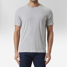 Max O-neck T-shirt Grå | East West | Brothers.se