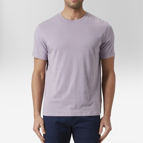 Max O-neck T-shirt Lila | East West | Brothers.se
