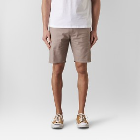 Bowery Chinos Short Mörkbeige | East West | Brothers.se