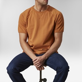 Piotor Raglan T-shirt Orange | East West | Brothers.se