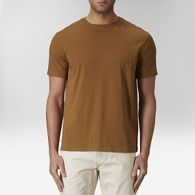 Max O-neck T-shirt Gul | East West | Brothers.se