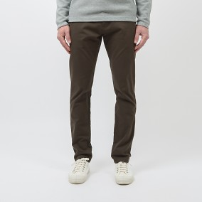 Bowery Twill Chinos Brun | East West | Brothers.se