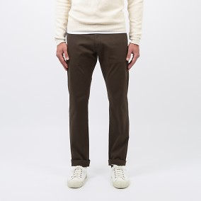 Baxter Dobby Chinos Brun | East West | Brothers.se