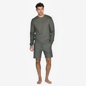 Loungewear | Collegeshorts olivgrön | Bread & Boxers | Brothers.se