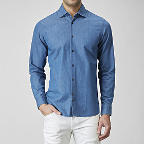 SKJORTA DANIEL CA WASHED CHAMBRAY