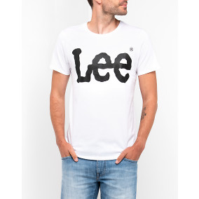 T-shirt Logo Vit | Lee | Brothers.se
