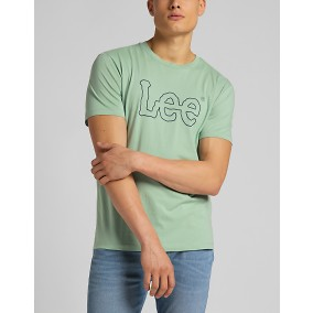 Wobbly Logo Tee T-shirt grön | Lee | Brothers.se