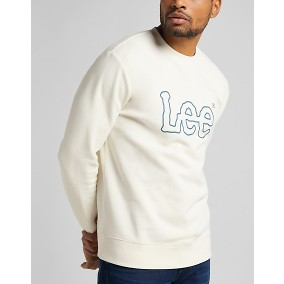 Basic Crew Logo Sweatshirt collegetröja vit | Lee | Brothers.se