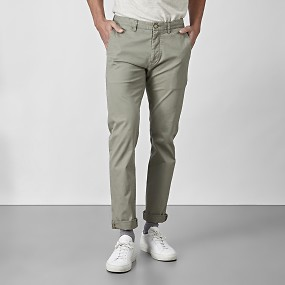 Bowery stretch chinos grön
