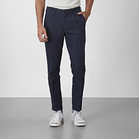 Cropped chinos blå