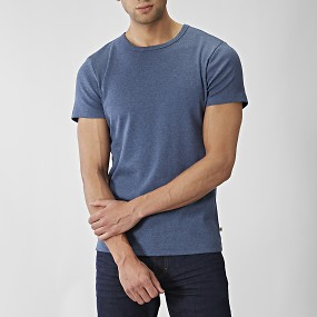 T-shirt o-neck mellanblå