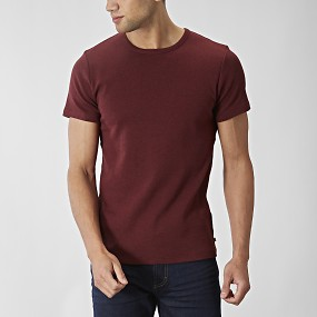 T-shirt o-neck vinröd